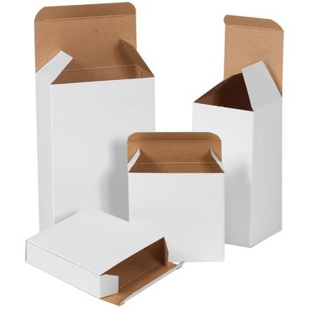 "1 13/16 x 7/8 x 1 13/16"" White Reverse Tuck Folding Cartons"