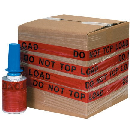"5"" x 80 Gauge x 500' ""DO NOT TOP LOAD"" Goodwrappers® Identi-Wrap"