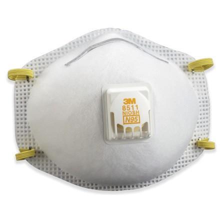3M - 8511 Dust Respirator with Valve