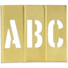 "1"" Letter/Number Brass Stencils"