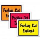 "4 1/2 x 6"" Orange ""Packing List Enclosed"" Envelopes"