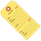 """4 3/4 x 2 3/8"""" Yellow Repair Tags Consecutively Numbered"""