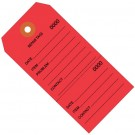 """4 3/4 x 2 3/8"""" Red Repair Tags Consecutively Numbered"""