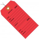 """4 3/4 x 2 3/8"""" Red Repair Tags Consecutively Numbered - Pre-Wired"""