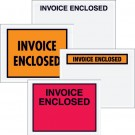"4 1/2 x 6"" Red ""Invoice Enclosed"" Envelopes"
