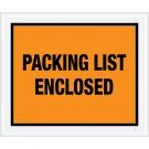 "10 x 12"" Orange ""Packing List Enclosed"" Envelopes"