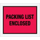 "10 x 12"" Red ""Packing List Enclosed"" Envelopes"