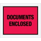 "10 x 12"" Red ""Documents Enclosed"" Envelopes"