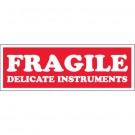 "1 1/2 x 4"" - ""Fragile - Delicate Instruments"" Labels"