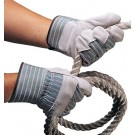Leather / Canvas Work Gloves (12 Pair per Bag)