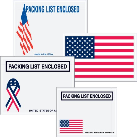 "United States ""Packing List Enclosed"" Envelopes"