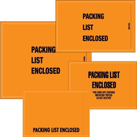 "Mil-Spec ""Packing List Enclosed"" Envelopes"