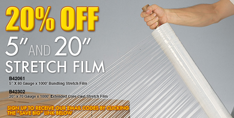 20% Off Stretch Film