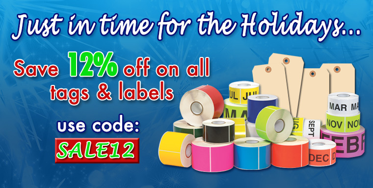 Holiday Tags and Labels 12% Off