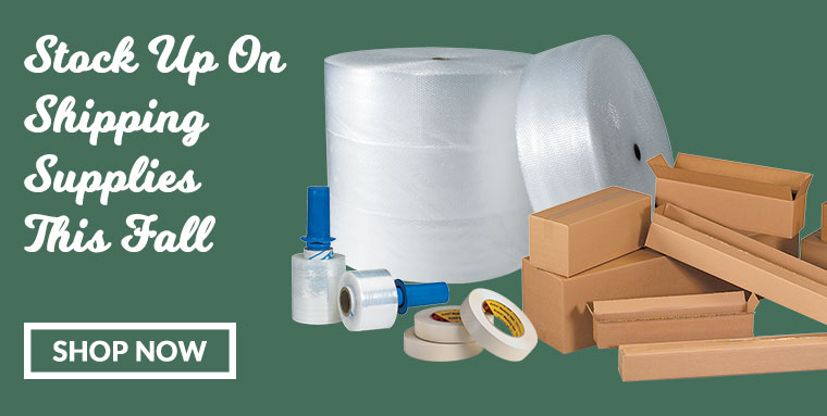 Stock Up on Shipping Supplies This Fall