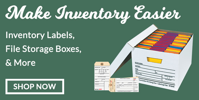 Inventory Labels & File Storage Boxes