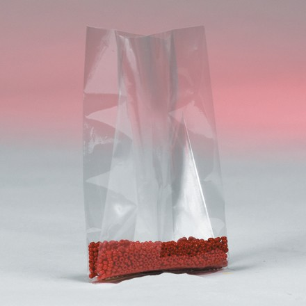 """5 x 3 x 15"""" - 4 Mil Gusseted Poly Bags"""