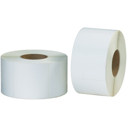 """2 1/4 x 1 1/2"""" White Thermal Transfer Labels"""