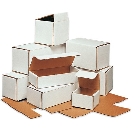 "9 x 6 x 4"" White Corrugated Mailers"