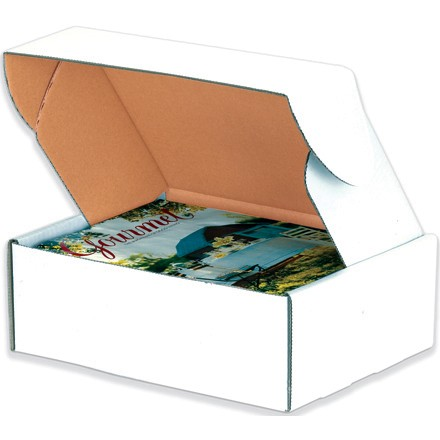 """10 x 10 x 5"""" White Deluxe Literature Mailers"""