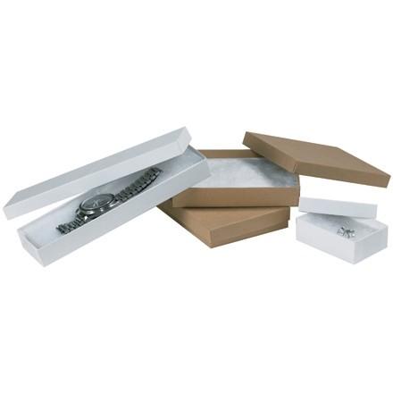 """3 1/2 x 3 1/2 x 1 1/2"""" Kraft Jewelry Boxes"""