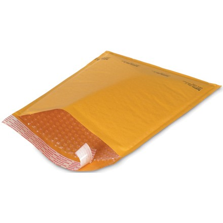 "7 1/4 x 12"" Kraft #1 Self-Seal Bubble Mailers"