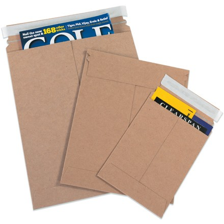 "6 x 6"" Kraft Self-Seal Flat Mailers"