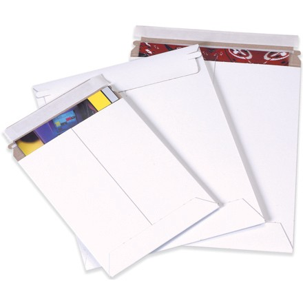 "7 x 9"" White Self-Seal Flat Mailers"