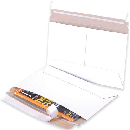 """12 1/4 x 9 3/4"""" White Side Loading Flat Mailers"""