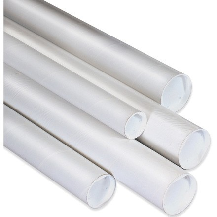 "2 1/2 x 26"" White Tubes with Caps"