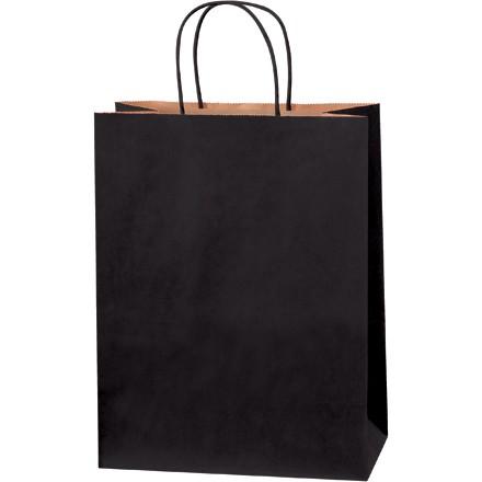 """10 x 5 x 13"""" Black Tinted Shopping Bags"""