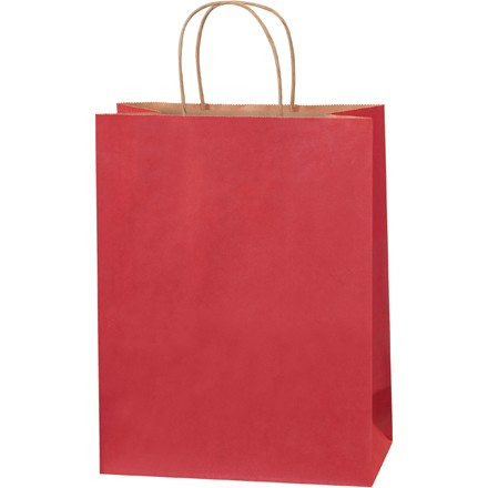 "10 x 5 x 13"" Scarlet Tinted Shopping Bags"