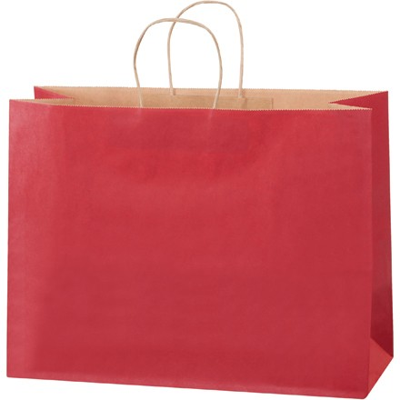 """16 x 6 x 12"""" Scarlet Tinted Shopping Bags"""