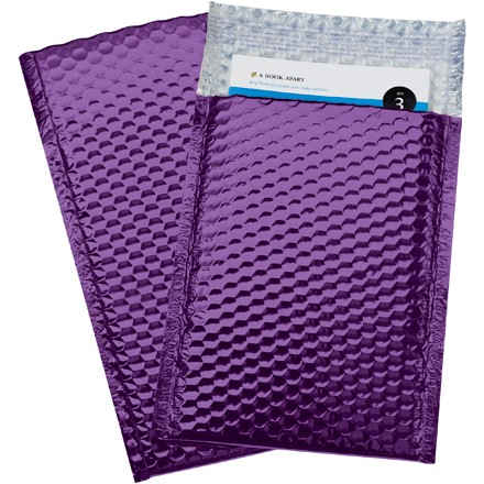 "7 1/2 x 11"" Purple Glamour Bubble Mailers"