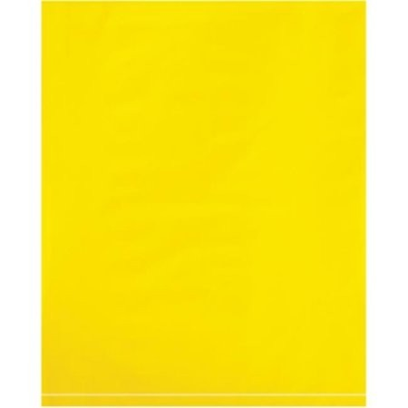 "15 x 18"" - 2 Mil Yellow Flat Poly Bags"