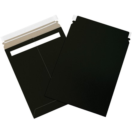 "9 3/4 x 12 1/4"" Black Self-Seal Flat Mailers"