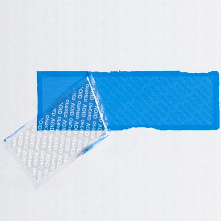 """2 x 5 3/4"""" Blue Tape Logic® Security Strips on a Roll"""