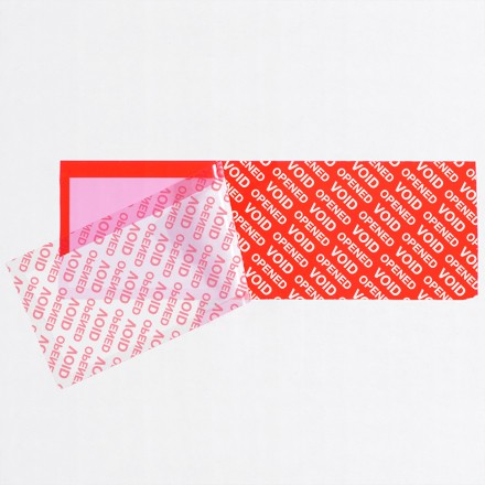 """2 x 5 3/4"""" Red (1 Pack) Tape Logic® Security Strips on a Roll"""