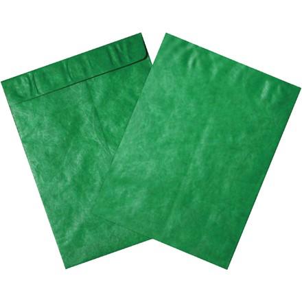 "10 x 13"" Green Tyvek Envelopes"