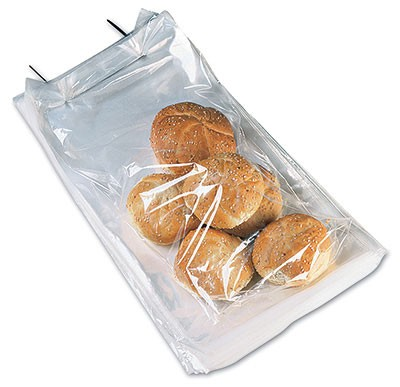 "9-3/4"" x 16"" Wicketed Poly Bag + 4"" Bottom Gusset (1 mil) (250 Bags per Wicket; 4 Wickets per Carton)"