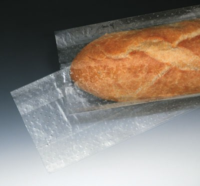 "3-1/2"" x 2"" x 26"" Low Density Microperforated Gusseted Bags - 24 Holes/PSI (1.5 mil)"