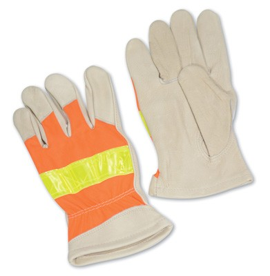 High Visibility Orange Driver's Gloves - X-Large