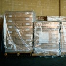 "68 x 65 x 82""  - 4 Mil Clear Pallet Covers"