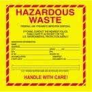 """6 x 6"""" - """"Hazardous Waste - Standard"""" Labels"""