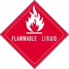 "4 x 4"" - ""Flammable Liquid"" Labels"
