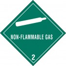 "4 x 4"" - ""Non-Flammable Gas - 2"" Labels"