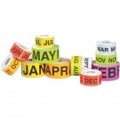 "2 x 3"" - ""JAN"" (Fluorescent Yellow) Months of the Year Labels"