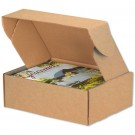 "11 1/8 x 8 3/4 x 4"" Kraft Deluxe Literature Mailer"