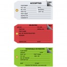 """4 3/4 x 2 3/8"""" - """"Accepted"""" Inspection Tags 2 Part - Numbered 000 - 499"""