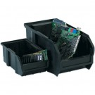 "10 7/8 x 5 1/2 x 5"" Black Conductive Bins"